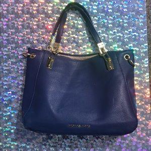 Knock-Off Royal Blue Michael Kors Leather Handbag